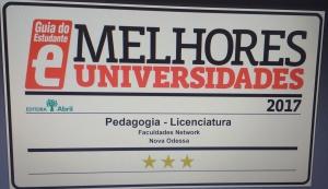 SELO 3 Estrelas Pedagogia 2017